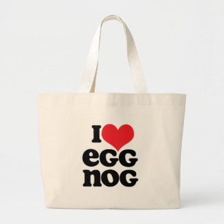 Retro I Love Egg Nog Tote Bag
