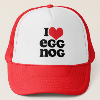 Retro I Love Egg Nog Trucker Hat