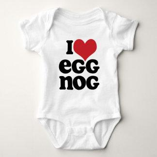 Retro I Love Eggnog Baby Baby Bodysuit