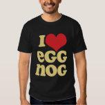 Retro I Love Eggnog Basic Dark Shirt