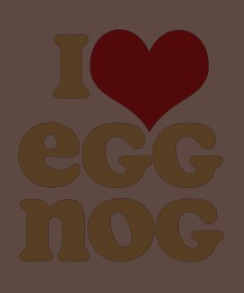 Retro I Love Eggnog Ladies T-shirts