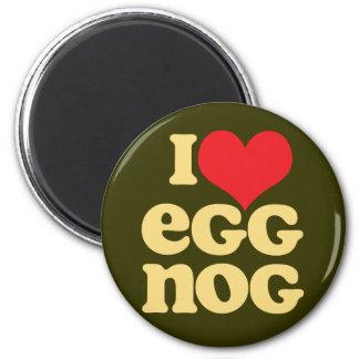 Retro I Love Eggnog Magnet