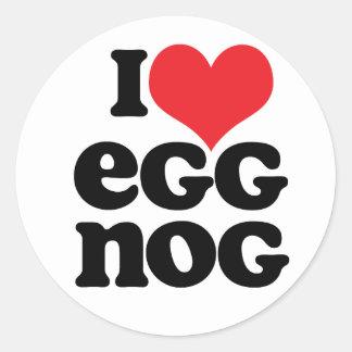 Retro I Love Eggnog Stickers