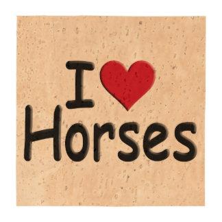Retro I love Horses Coaster