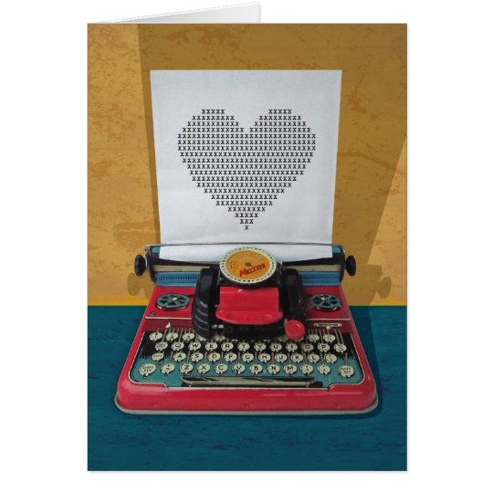Retro I.T. 50s Vintage Toy Typewriter Card