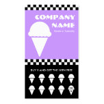 retro ice cream checkers punchcard business card template