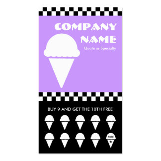 retro ice cream checkers punchcard Double-Sided standard business cards (Pack of 100)