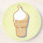 retro ice cream cone coasters