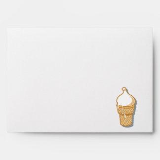 retro ice cream cone envelope