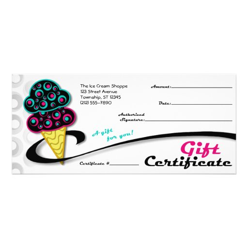 Pdf icecream gift certificate template 28 pages gift retro cone gift certificates customized rack card zazzle yadclub Image collections
