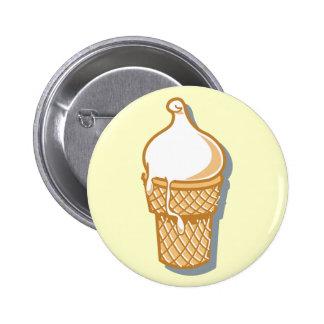 retro ice cream cone pinback button