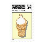 retro ice cream cone stamp