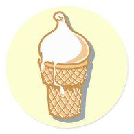 retro ice cream cone sticker