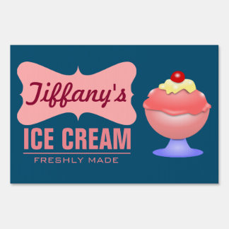 Retro Ice Cream Parlor | Pink Sundae | Ice Cream Sign