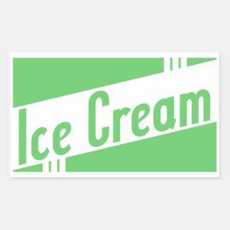 retro ice cream rectangular sticker