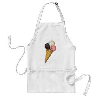 Retro Ice Cream Sign Adult Apron