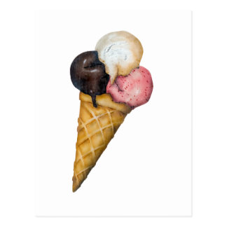 Retro Ice Cream Sign Postcards