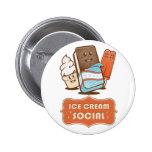 Retro Ice Cream Social Buttons