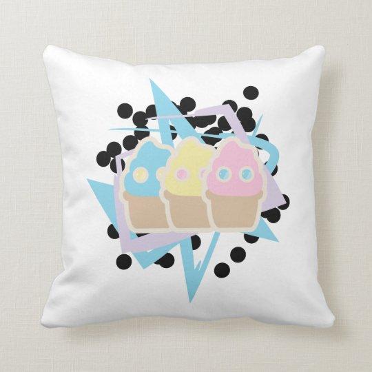 Retro Ice cream Throw Pillow