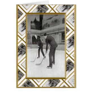 Retro ice hockey card