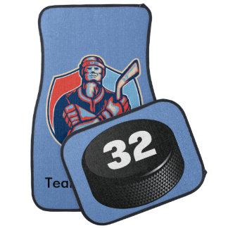 Retro Ice Hockey Player Floormats