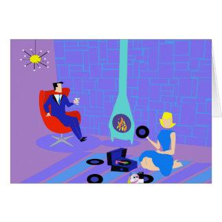 Retro igualando en casa la tarjeta de felicitación
