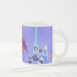 Retro igualando en casa la taza del vidrio