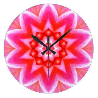 Retro Image 5 Pink & White Round Wall Clock