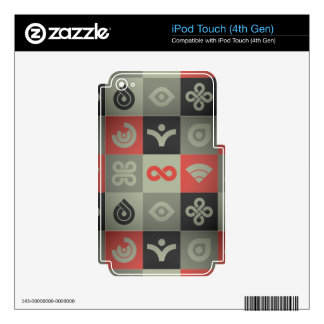 Retro Image iPod Touch 4G Decals