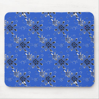 Retro in Blue Mouse Pad