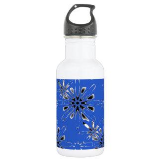 Retro in Blue 18oz Water Bottle