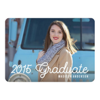 Retro in Kelly Green   Graduation Invitation