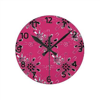 Retro in PInk Wall Clocks