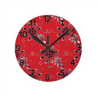 Retro in Red Clock