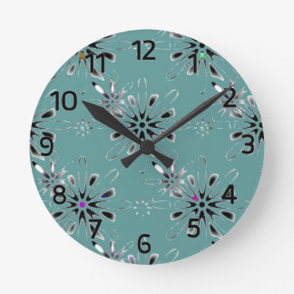 Retro in Teal Wall Clocks