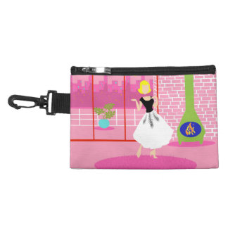 Retro In the Pink Clip On Accessory Bag