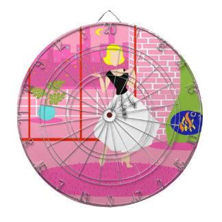 Retro In the Pink Dart Board