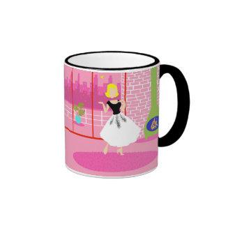 Retro In the Pink Ringer Mug