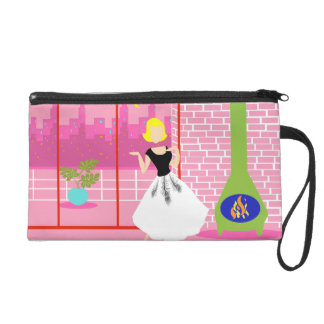 Retro In the Pink Wristlet