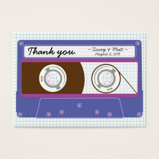 Retro Indie Mixtape Wedding (Purple/Blue) Business Card