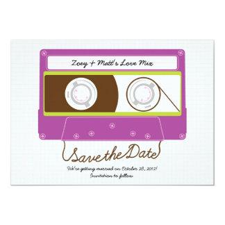 Retro Indie Mixtape Wedding (Purple/Lime) Card