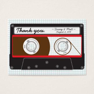 Retro Indie Mixtape Wedding Red, Black & White Business Card