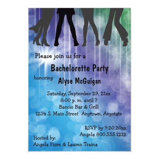 Retro Inspired Colorful Party Invitation