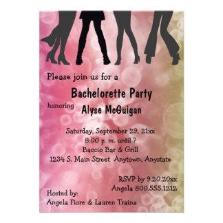 Retro Inspired Disco Bachelorette Party Invitation