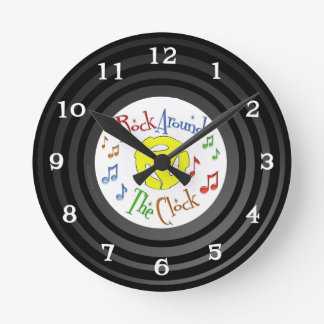 Retro Inspired Faux Vinyl Rock Around The Clock