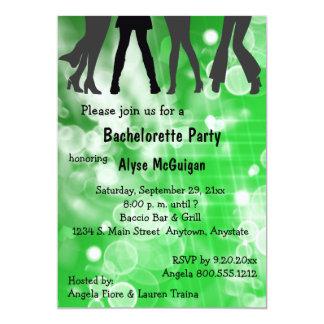 """Retro Inspired Green Bachelorette Party Invitation 5"""" X 7"""" Invitation Card"""