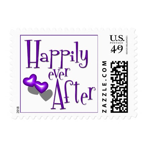 Retro Inspired Happily Ever After And Purple Heart Postage