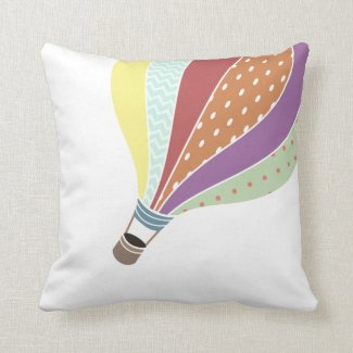Retro Inspired Hot Air Balloon Pillow