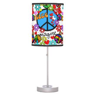 Retro Inspired Peace Symbols Love Lamp