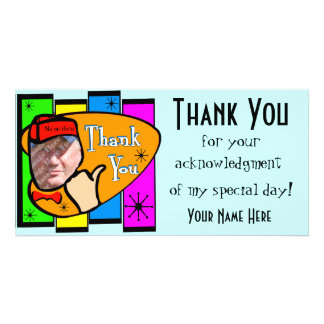 Retro Inspired Photo Thank You Card Photo Card